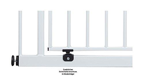Impag Türschutzgitter Treppenschutzgitter mit Ampelfunktion 73 – 222 cm zum Klemmen Traffic Light + 30 Weiß - 6