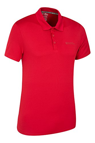 Mountain Warehouse Tournament IsoCool Herren-Poloshirt Rot