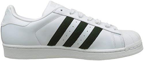 adidas Superstar, Zapatillas de deporte para Hombre, Blanco (Crystal White/Collegiate Green/Core Black...