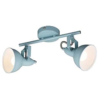 briloner leuchten deckenleuchte deckenlampe mit 2 dreh und schwenkbaren spots im retro. Black Bedroom Furniture Sets. Home Design Ideas