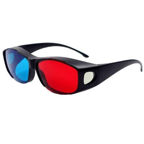 3D-Brille Rote & Blau Hochwertige Anaglyph 3D-TV Kino Filme DVD sehen oder lesen Unterhaltung | 3-D Brille von iChoose®