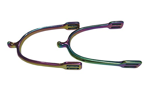 ARBO-INOX® Sporen Edelstahlsporen Dornsporen Regenbogen Rainbow (15mm rund)
