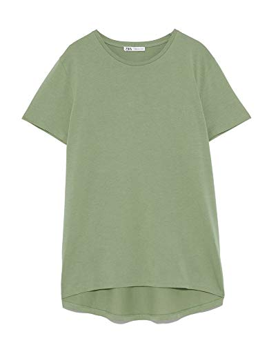 ZARA Damen Asymmetrisches t-Shirt 4174/025 (XX-Large)