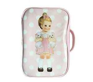 FIFY Beauty Case Borsa Portadocumenti da Viaggio Borsa da Viaggio in Pelle di Design di Bambole di Disegno per Bambole, 26 * 18 * 10cm