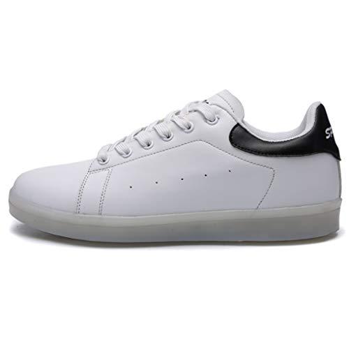 Pengye Low-Cut-LED-Leuchten für Damen Beleuchtete Schuhe Flashing USB Charging Sneakers (Farbe : A, größe : 36EU)