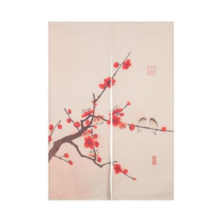 Chinesische Art dicke Baumwolle Leinen hängenden Vorhang, halbe Tür Vorhang dekorative Partition - für Haus Eingang Dekoration, Schlafzimmer, Wohnzimmer, Zimmer, Küche (5 Stile zur Verfügung) , style 2 , 80x90cm (Chinesische Tür-vorhang)
