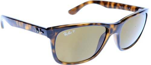 Ray-Ban Square Wayfarer Sunglasses in Light Havana Polarised 57 Brown Gradient