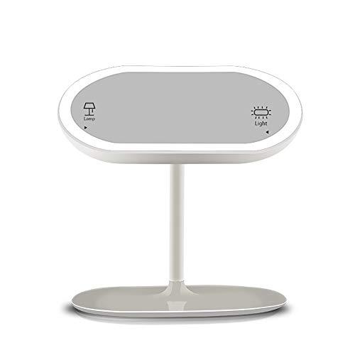 Pn&cc LED Schminkspiegel, 360 ° frei drehbare Tischlampe USB-Aufladung tragbarer kreativer Desktop-Schminktisch geeignet für Heimbüro Pn Led