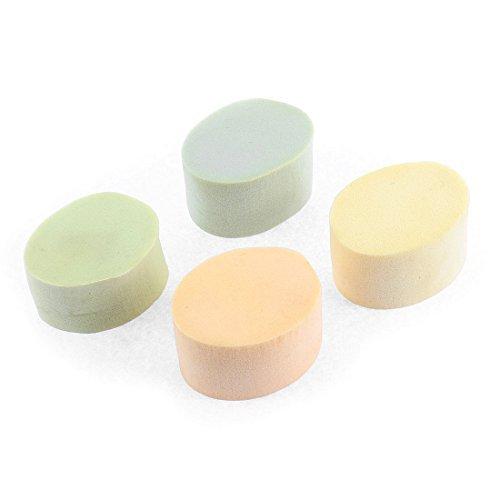 sourcingmap® Forme Ovale Visage DéMaquillage Vaisselle éponge maquillage Houppette 4pcs