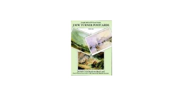 JMW Turner Postcards 24 Full Colour Ready To Mail Cards From Watercolours In The Collection Of British Museum Card Books Amazoncouk Joseph