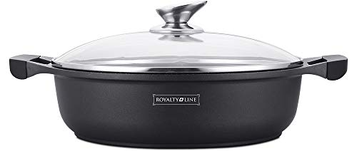 Royalty Line - RL-BR28M - Cacerola Baja Tapa Cristal