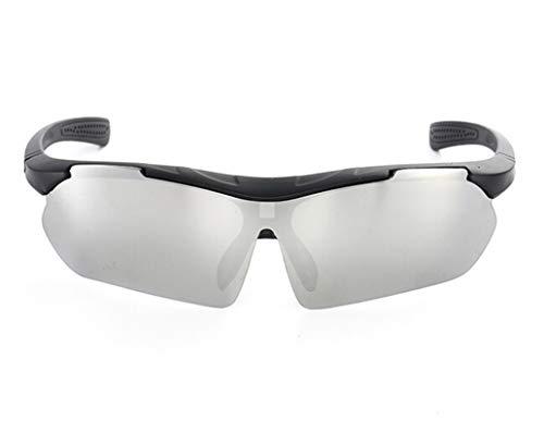 MaxAst Sonnenbrille Outdoor Brille Herren Sicherheitsbrille Brillenträger Schwarz Silber