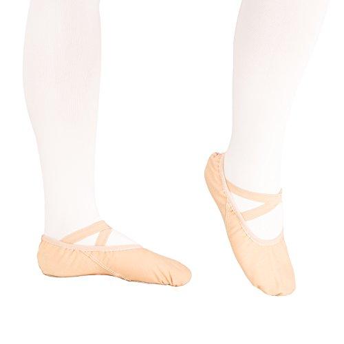 Lumière rose Filles Femme chaussures de ballet EU25 ~ 44, 16 ~ 28cm/doux chaussons de danse pour danse Gym Yoga (EU44)