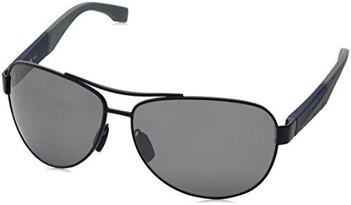 BOSS Hugo Herren 0915/S 6H 1XS Sonnenbrille, Blau (Mtbluee Grey/Greyfls SLV Pz), 65