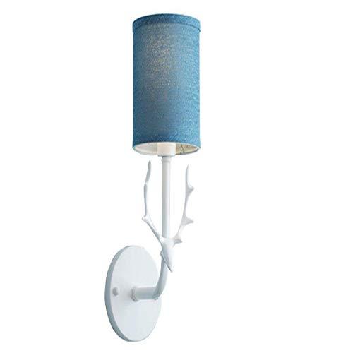 Lampada da parete moderna in ferro verniciato minimalista parete attrezzata europea da soffitto in miniatura e14 (design: 1)