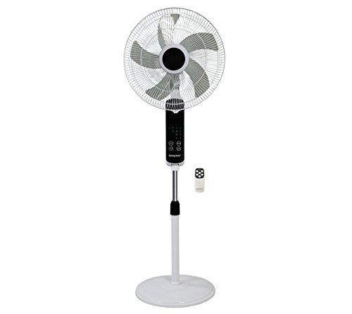 Beper VE.112 Ventilatore Piantana Touch Screen, 55 W, Bianco/Rosso, 45 cm