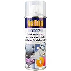 BLANC Hte Température 650 °C (BELTON) (Bombe Peinture 400 ml) - Peinture Auto K resistante Hautes températures entre 300 et 800 degrés C pour applications diverses.