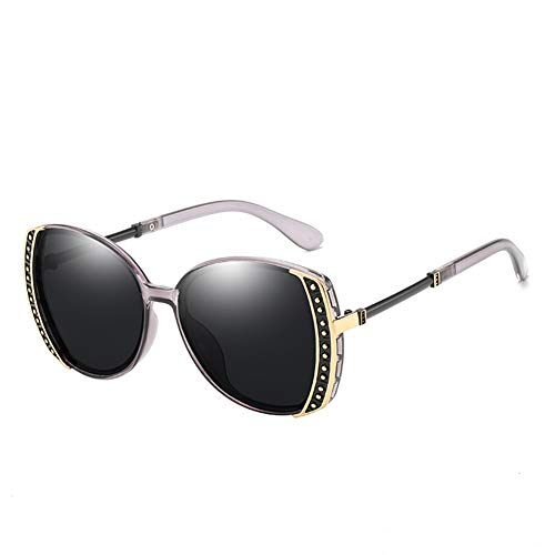 EYEphd Frauen Sonnenbrillen Designerin-Sparkling Rhinestone Verschönerung Frame Shades Sun Brillen für Driving/Traveling, UV 400,BluePurpleFrame/BlackLens