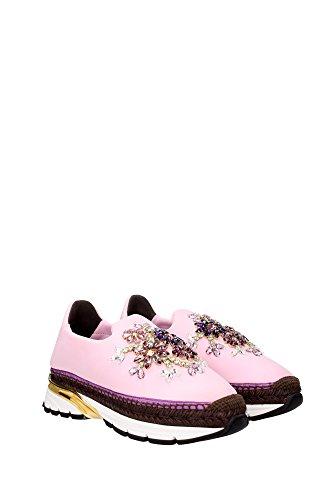 CK0088AD6638R415 Dolce&Gabbana Sneakers Femme Tissu Rose Rose