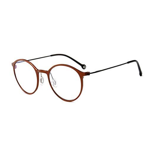 HHL Nicht Verschreibungspflichtige Anti-Blue-Light-Brillen, Klare Linsen, Unisex, Metallrahmen,...