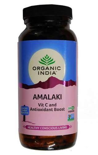 organic herbs Botella Organic India amalaki 250 Cápsulas