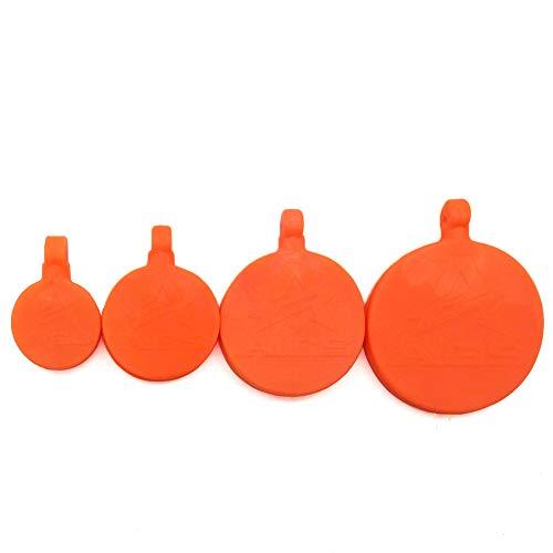 DMAR Schleuderziel für Erwachsene Männer Schießen Outdoor Jagd Zubehör Schleuder Katapult Ziel für die Jagd Wargame 4pcs orange
