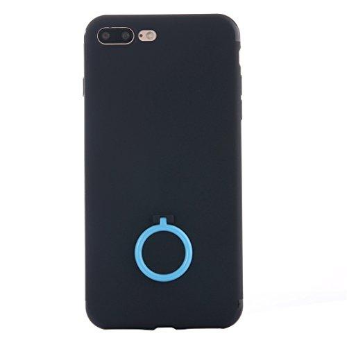 IPhone 7 Plus Fall Ultra dünner weicher TPU schützender rückseitiger Abdeckungs-Fall mit Ring-Halter-Standplatz für iPhone 7 Plus Fall by diebelleu ( Color : Gold ) Baby blue
