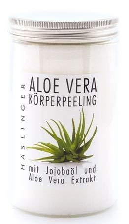 Lashuma Aloe Vera Körperpeeling mit Jojobaöl und Aloe Vera Extrakt, Duschpeeling Salt Scrub, 450 g