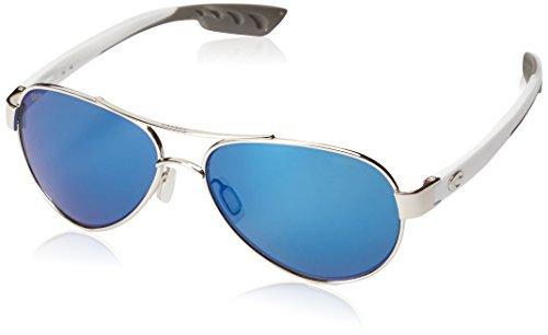 Costa Loreto Metal Frame Blue Mirror Lens Unisex Sunglasses LR21OBMP