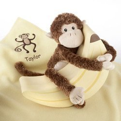Personalized Monkey Magoo and Blankie Too! by Kate Aspen