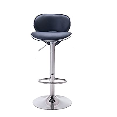 Hollylife 2 x Breakfast Bar Stools Faux Leather Kitchen Stools Pub chair Chrome Swivel - cheap UK light store.