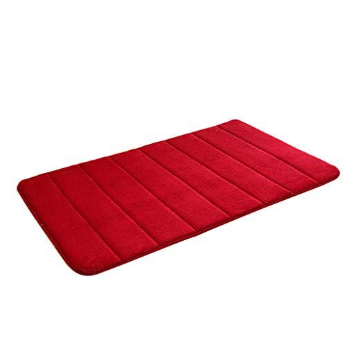WHSHINE Mode Einfarbig Korallenrotes Vlies Dick Teppiche Home Vertikale Streifen Boden Kissen Kinder Rutschfeste Spielen Spiel Matten Schlafzimmer Bettvorleger (5, 40x60cm) (Kinder Streifen-teppich)