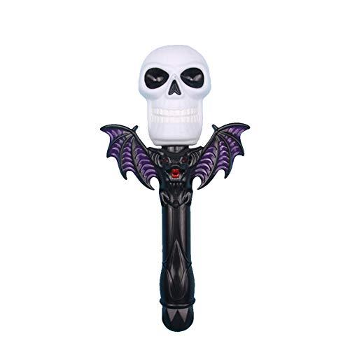 Baby-Kind-Spielzeug, Halloween Flash-Geist-Kopf-Spielzeug der Kinder Zauberstab Halloween Dekoration Props