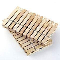 Image of 96 Wooden Clothes Pegs