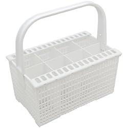 Zanussi - Cubertero para lavavajillas con asa y soporte para cuchillos, color blanco