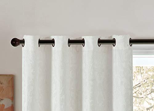 Pimpamtex tende oscuranti confezionate, 2pezzi. tende oscuranti per salotto, cameretta e camera, con 8occhielli, 140x 260cm, modello jacquard damasco. 140_x_260_cm naturale