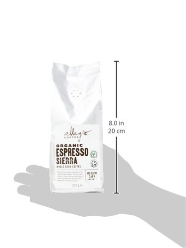 Allegro Coffee Organic Espresso Sierra Whole Bean Coffee, 227 g