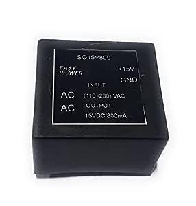 Easy Power (110-260) VAC - 15 VDC /800mA Regulated Power Supply Module