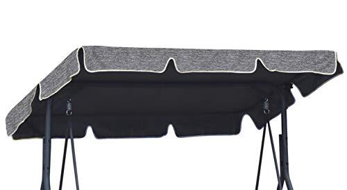 Ferocity Universal Sonnendach für Hollywoodschaukel Dach-Plane für Garten-Schaukel Dachplane Ersatzdach ca 110 x 188 cm Flachs [101]