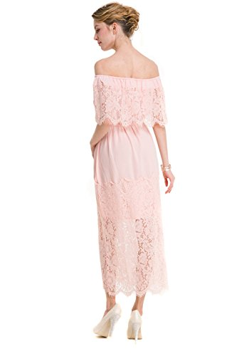 Jollychic Damen Cocktail Kleid Rose