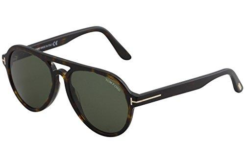 Tom ford -  occhiali da sole  - uomo havanna dunkel 57