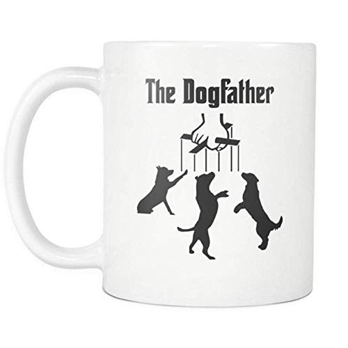 WYYCLD - The Dogfather Mug - Inspired by The Godfather Design for Dog Owner, 11oz Ceramic Coffee Mug, Unique Gift 12 Oz White Foam Cups