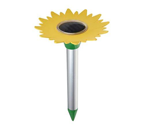 AM-Elektro-Gerät 2 Stück Solar Maulwurfschreck Sonnenblume Ultraschall Elektronischer Antrieb Maulwurf Rattenabwehr Mäuse Schlange Insektenabwehr Ausrüstung Outdoor Garten Hof AGTZ-03 - Elektro-schlangen