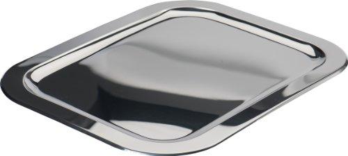 Schlemmerplatte Servierplatte Edelstahl 36,0 x 25,0 cm