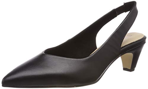 Tamaris Damen 1-1-29502-22 Slingback Pumps, Schwarz (Black Leather 3), 40 EU Sling Pumps Schuhe