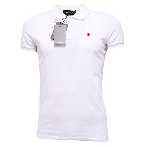 2950Q maglia uomo DSQUARED D2 polo bianca t-shirt men [M]