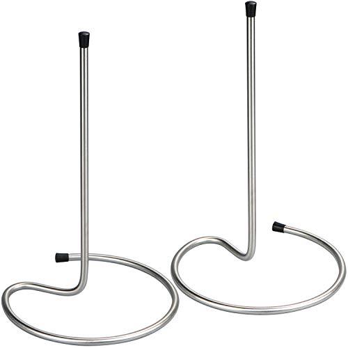 com-four® 2 Dekantertrockner, Kleiner Abtropfständer für Dekanter und Karaffen (29 cm - 02 Stück)