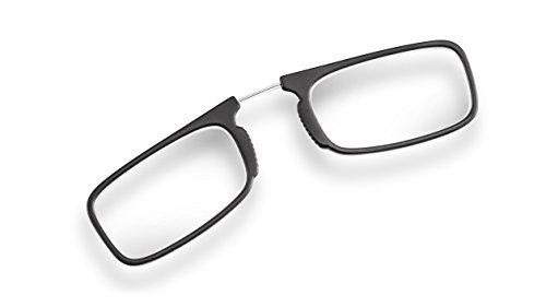 Filtral Zwicker Brille | Praktische Lesebrille ohne Bügel im handlichen Etui | Federleichte Ersatz-Lesebrille für Damen und Herren | Inkl. Klebestreifen zum Befestigen am Smartphone oder Laptop, +2,00 dpt F6141377