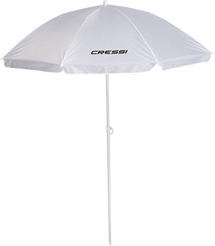 Cressi Umbrella Beach Sonnenschirm, Weiß, 160 cm