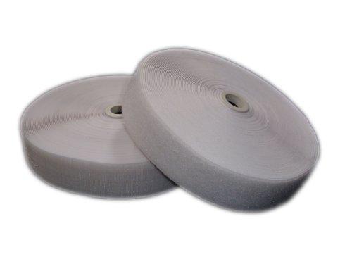 Bande Velcro 50mm Weiß zum aufnähen